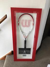 Signed roger federer tennis racket