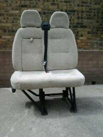 Twin passenger seat for motorhome
