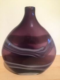 Purple glass vase from next