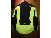 Weise Hornet hi viz motorcycle jacket with armour and thermal lining - size L