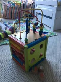 Wooden play cube, great condition