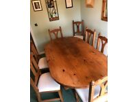 Dining Room Table & 8 matching chairs