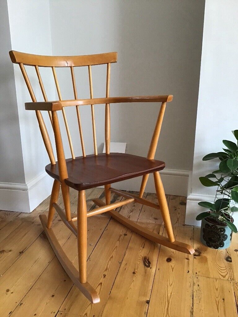 Excellent Vintage Mid Century Modern Scandinavian Rocking Chair In Oxford Oxfordshire Gumtree Creativecarmelina Interior Chair Design Creativecarmelinacom