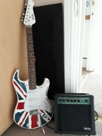 guitar and practice amp