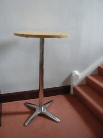 ROMA TALL/SHORT BAR BISTRO ROUND BEECH TABLE