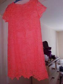 BRAND-NEW girls peach dress size 5/6 years