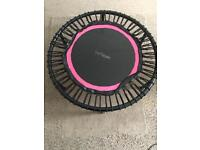 The Bellicon mini trampoline 100cm with 1pair of bungees spair and folding legs