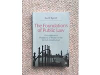 CHEAP TEXTBOOK: The Foundations of Public Law by Keith Syrett