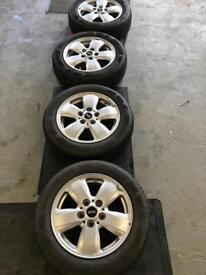 "4x Silver 15"" Alloys & Tyres"