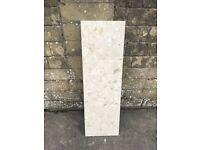 Marble composite hearth - pale sandy colour