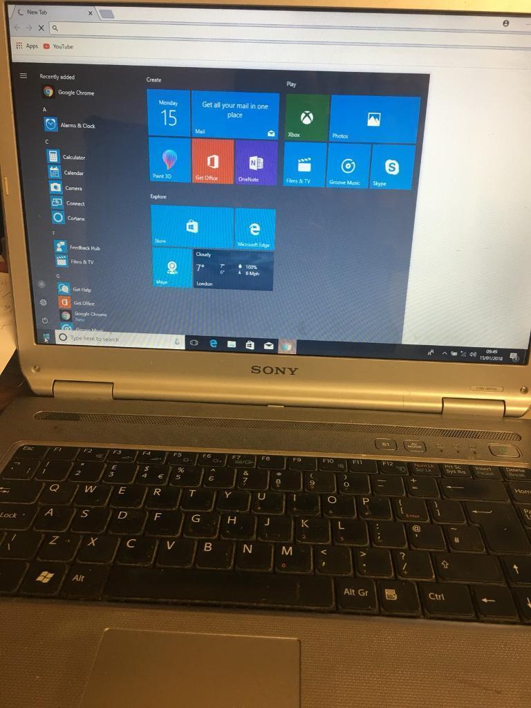 Sony laptop genuine windows 10 pro , 15.4 inch great laptop