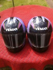 2 x Vemar helmets