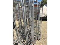 3 x Folding metal trolley cages