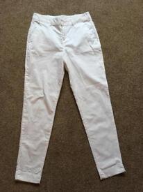 Ladies White cotton trousers size 10