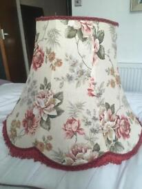Vintage standard lamp shade with tassels