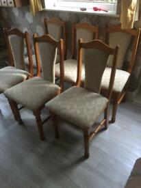 6 chairs collect glen parva
