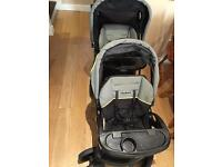 Double buggy, sit and stand stroller