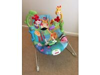Fisher Price baby bouncer with vibration and sounds