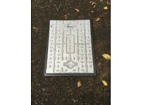 Brand new Clark-Drain 600 x 450mm clear opening galvanised steel manhole cover& polypropylene frame
