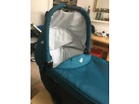 Joie Carrycot (teal) with raincover