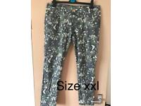 Camo skinny trousers