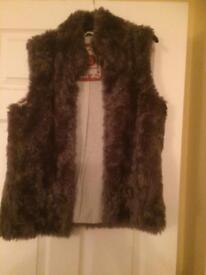 WHITE STUFF faux fur gilet size 12