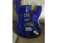 Blue guitar body
