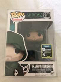 The arrow unmasked funko pop