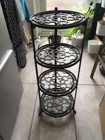 Lovely, solid, caste-iron, vintage kitchen pan stand