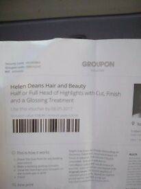 Voucher for helen deans hair and buety
