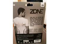 JML Zone: Men's Breathable Compression Stomach Flattening Top - White Midium