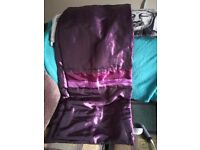 Purple bed runner silk