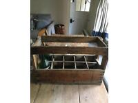 Vintage French Wooden Champagne Crate