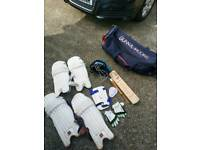 Cricket kit with wheely bag