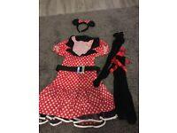 Ladies mini mouse costume fancy dress size 10/12