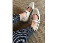 White cute girly shoes