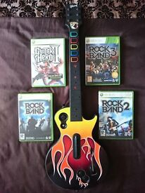 Rock Band / Guitar Hero Bundle with Gibson Les Paul Controller for Microsoft Xbox 360