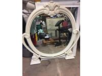 Large oval dressing table mirror
