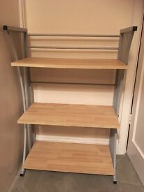 Shelving unit in excellent condition beech/grey