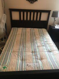 Ikea King Size Hemnes Black Bed Frame with slats (Bed Only) £100 O.N.O