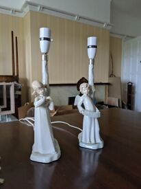 Lladro Pair of Lamps Excellent Condition - Rare