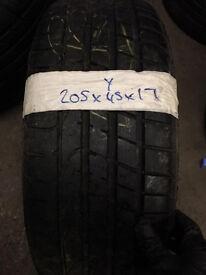 205/45/17 run flat and non run flats quality part worn