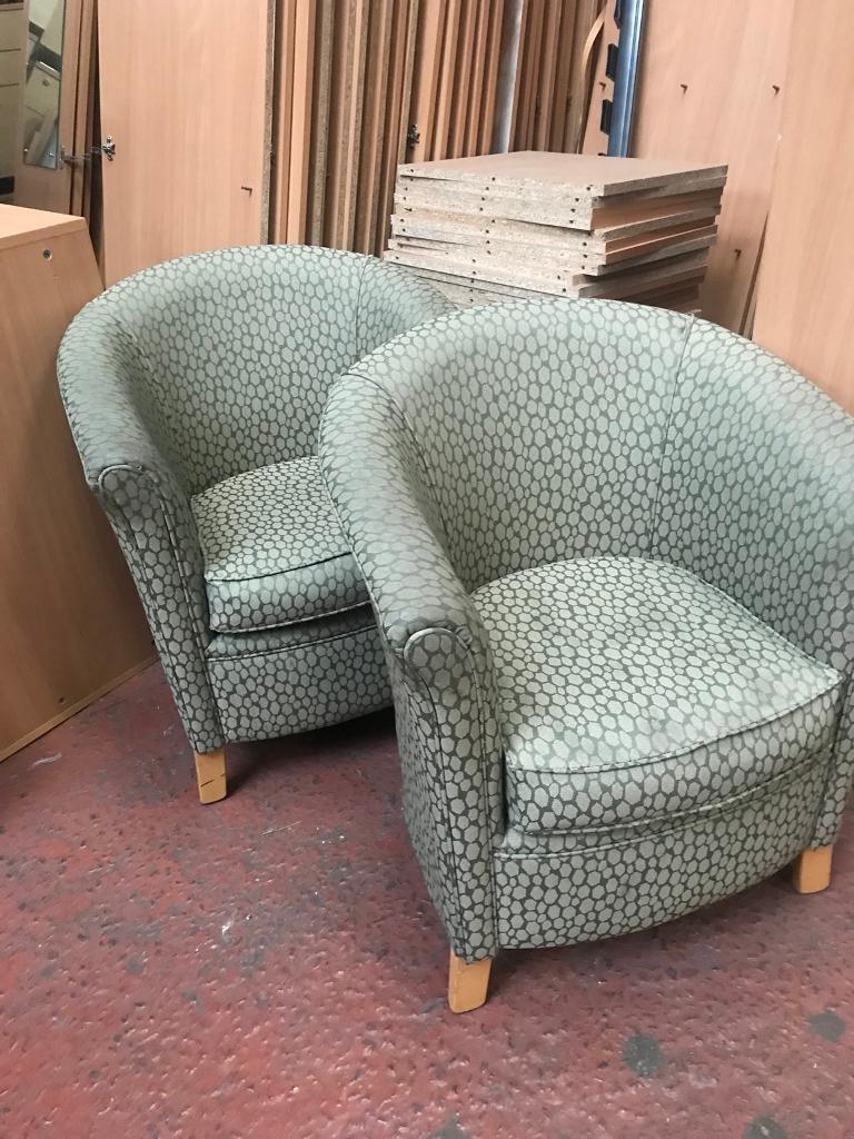 green fabric tub chairs in smithdown road merseyside gumtree
