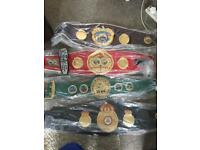 Boxing world title belts