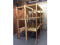 Sturdy Custom Built Wooded Warehouse Office Industrial Retail Commercial Shelving Unit