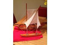 Vintage model of Orua Fishin Vessel from Sri Lanka