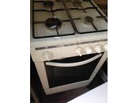 White gas cooker 50cm.. cheap free delivery