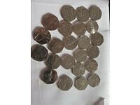Selection of 50p 50 pence circulated coins
