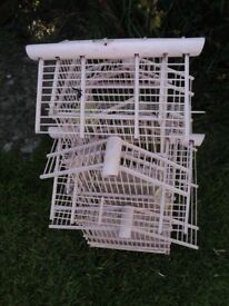 Vintage hand made wooden bird cage