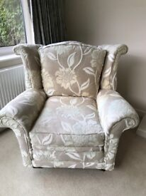 Armchair fabric floral design